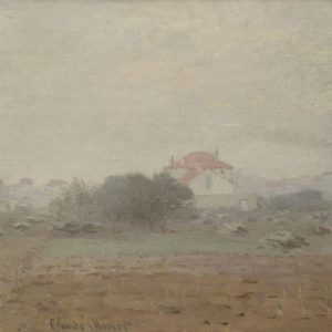 "Claude Monet, ""Effet de Brouillard"" (circa 1872), oil on canvas, 19"" x 29 5/8"" (26 3/8"" x 37 1/8"" framed)"