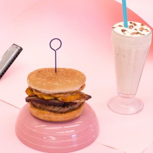 The Oinkster celebrates the King's 80th birthday with the Thai Elvis Burger and All Shook Up Shake.