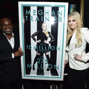 Chairman of Epic Records LA Reid and Meghan Trainor