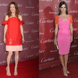 Julianne Moore in 2015 and Sandra Bullock in 2014