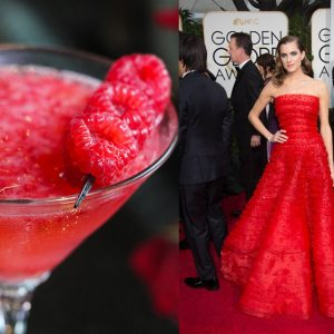 Velvet Lounge's Raspberry Martini and Girls' Allison Williams are twinsies.