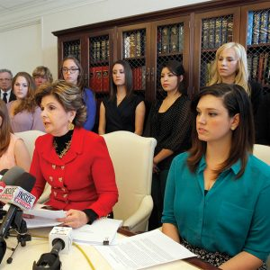 Gloria Allred with Oxy claimants