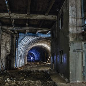 The Pacific Electric subway tunnel was built in the 1920s.