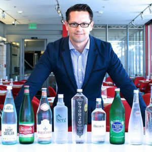 Certified water sommelier Martin Riese