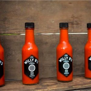 Willy B's makes raw and fermented hot sauces.