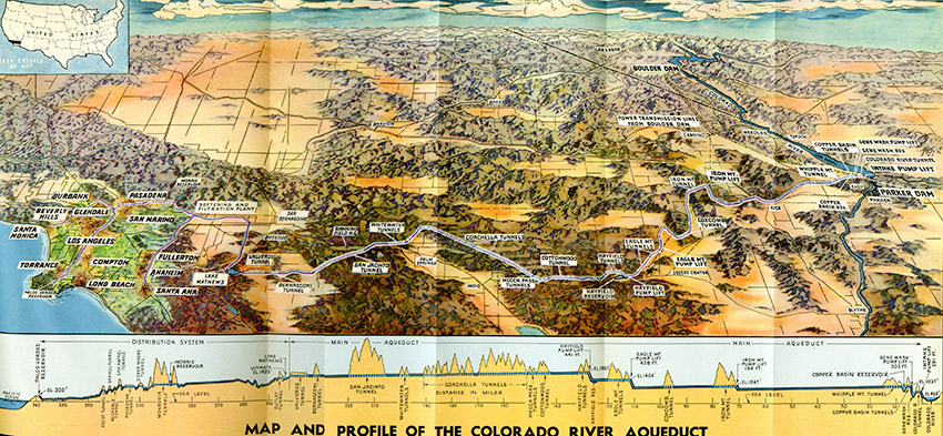 CityDig This Map Details Every Dramatic Stretch Of The - Colorado river map world atlas