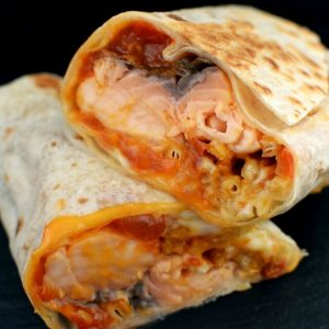 An Ink. dish inspired this salmon burrito we created.