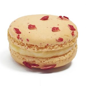 Strawberry Champagne is one of three Valentine's Day flavors from Napoleon's Macarons.
