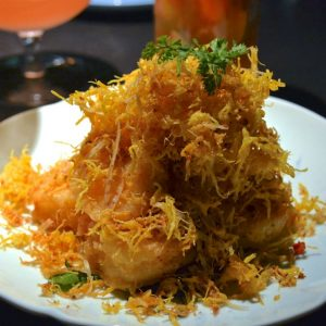 Hakkasan is serving golden fried sea prawns for Chinese New Year.