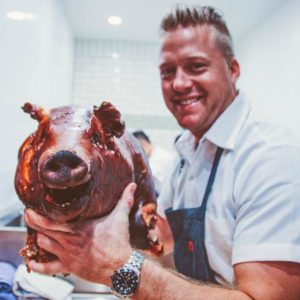 Barrel & Ashes chef Timothy Hollingsworth knows his way around a pig.