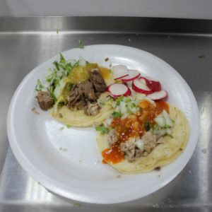 Tongue and brain tacos at El Pelon