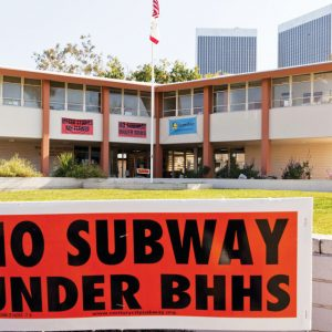 Plans for the Purple Line to run beneath Beverly Hills High School have met with steady resistance