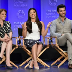 Executive Producer/Showrunner Jennie Urman, Gina Rodriguez, and Justin Baldoni attend PALEYFEST LA 2015