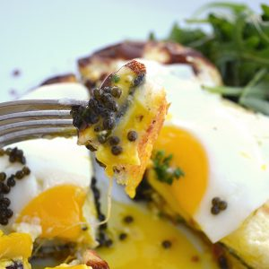 Petrossian's croque madame with caviar