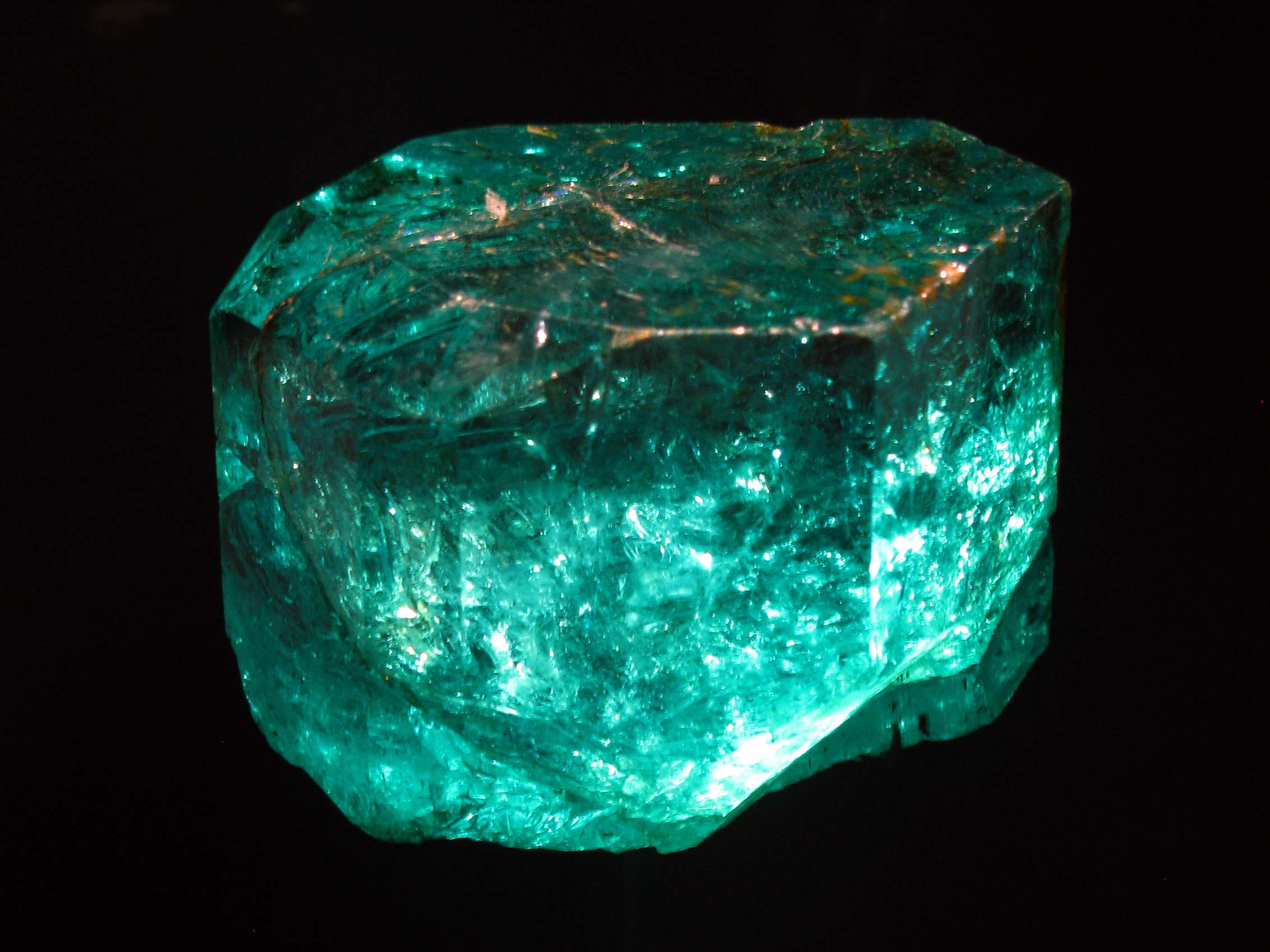 This is not the Bahia emerald. The Bahia emerald is much larger