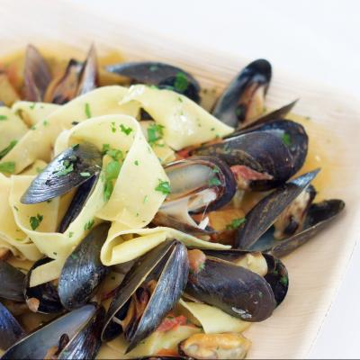 Steamed Mussels at Bombo
