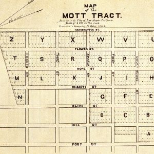 Map of the Mott Tract, H. Picket, 1869