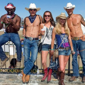 Stagecoach fans with more than one kind of six-pack