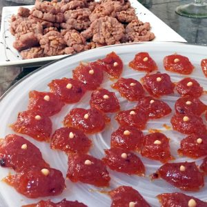 Apricot sweet paste and wine cookies were sweet additions to a Greek-inspired Passover.