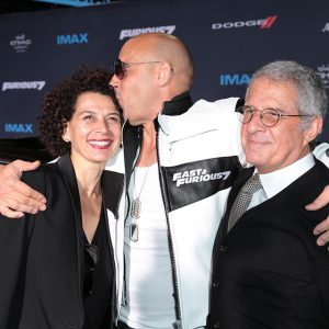 Universal Chairman Donna Langley, Vin Diesel, Vice Chairman NBCUniversal Ron Meyer