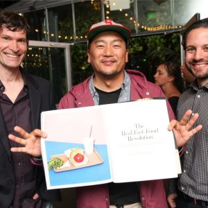 Daniel Patterson and Roy Choi with WSJ. magazine writer Howie Kahn