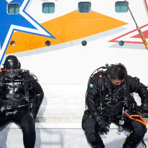 Members of the Port Police dive team