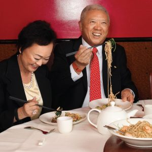 Peggy and Andrew Cherng, the co-CEOs of the Panda Restaurant Group, which also includes the Panda Inn in Pasadena.