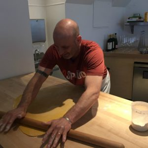 Marc Vetri, who just released his new Mastering Pasta cookbook, rolls pasta at Bucato.