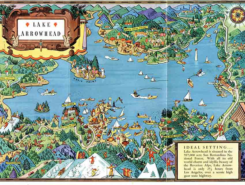 Citydig lake arrowhead looks like paradise in this 1925 for Lake arrowhead fishing