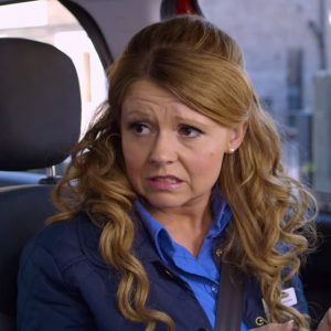 Kayleigh (Sian Gibson) doing her part to keep Britain green