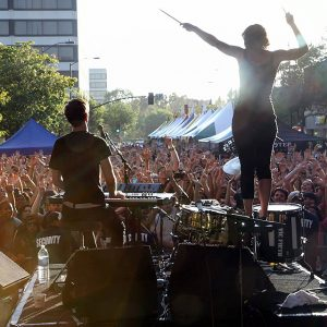 Matt and Kim played Make Music Pasadena in 2010