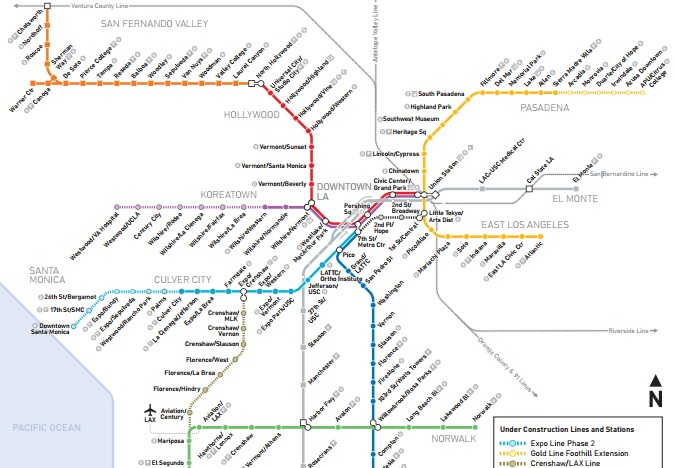 See How the Metro Map Will Look In a Decade Los Angeles Magazine