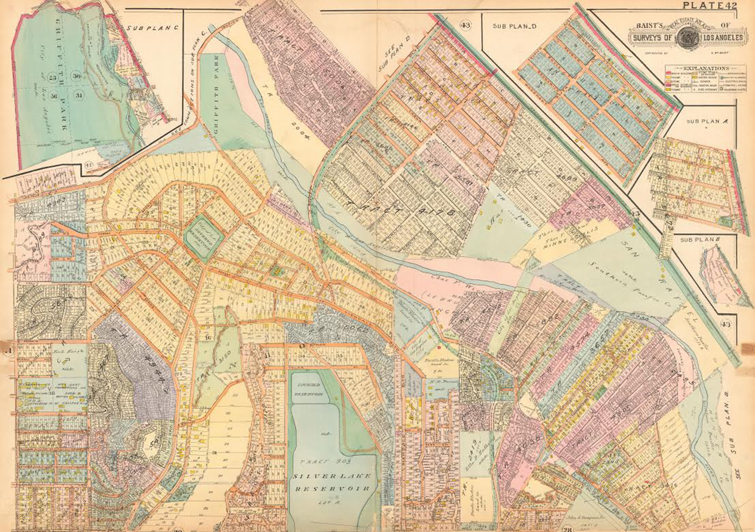 This Map Shows Silver Lake Before It Was An Artists Enclave Los - Los angeles map silver lake