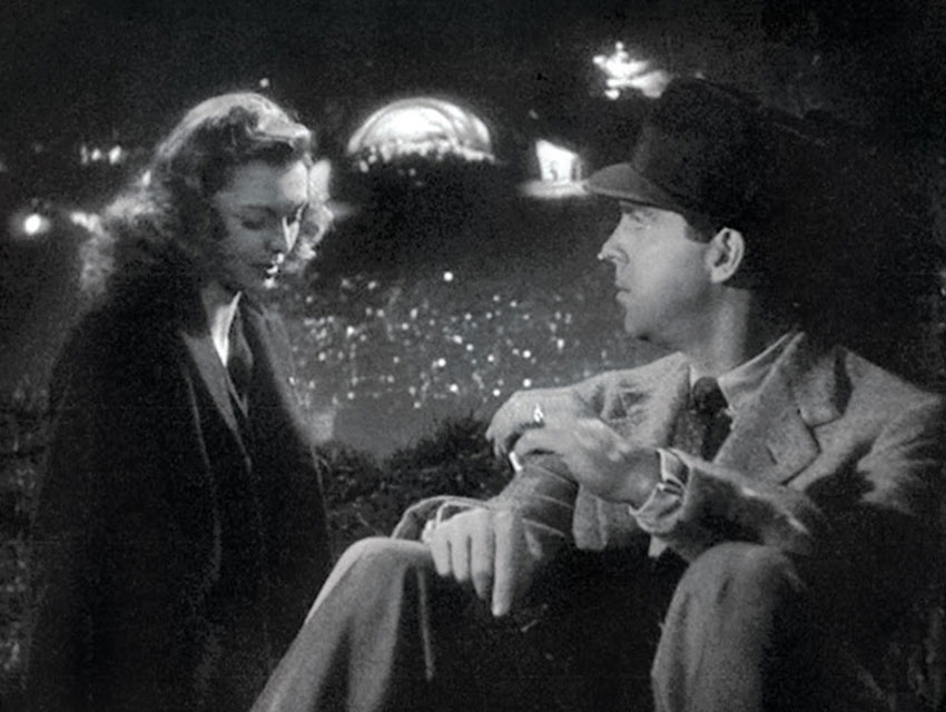 TWO TIMING Jean Heather and costar Fred MacMurray make the Hollywood Bowl a noir haunt in Double Indemnity