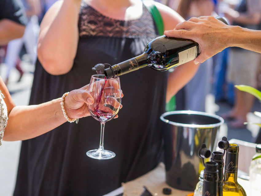 Wineries offered wine tastings all weekend long