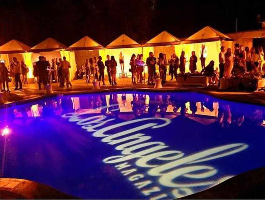 Los Angeles magazine's Spring Fashion Event was held poolside at W Los Angeles – Westwood