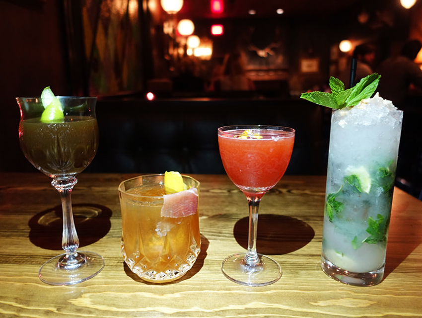 Cocktails from Old Man Bar and Hatchet Hall