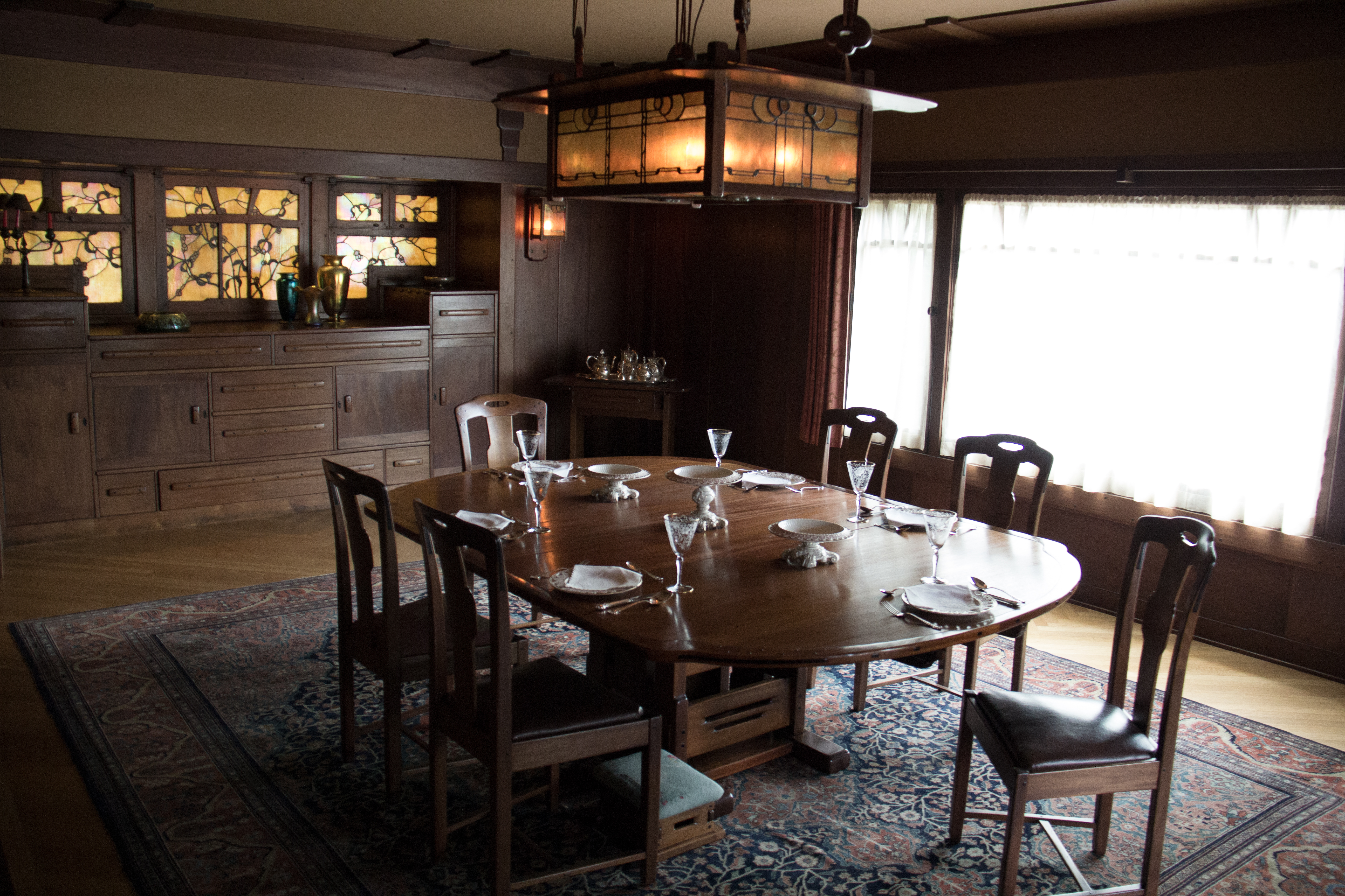 The Dining Room Table Set With Period Irish Porcelain Photography By Thomas  Harlander · Gamble House ... Part 83