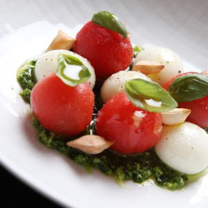 The fancy caprese as only José Andrés can do.