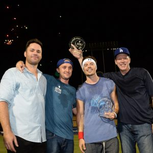 Paul Hodge, Tom Felton, Josh Henderson, and Orel Hershiser