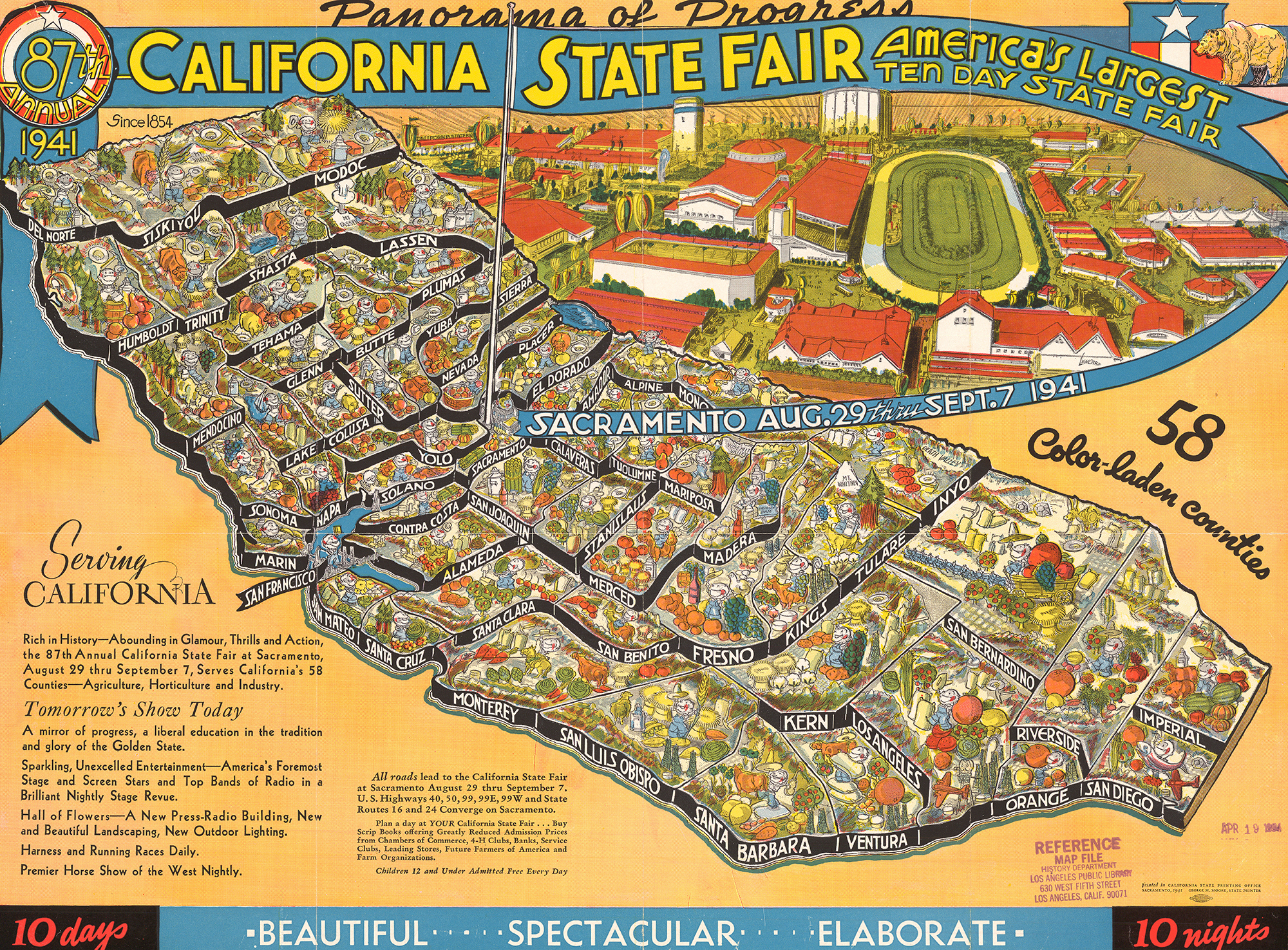 CityDig This Map Shows Off The California State Fairs - Ca state map