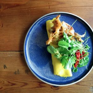 Dudley Market's soft-shell crab omelette