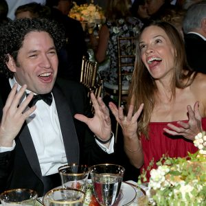 Gustavo Dudamel and Hilary Swank