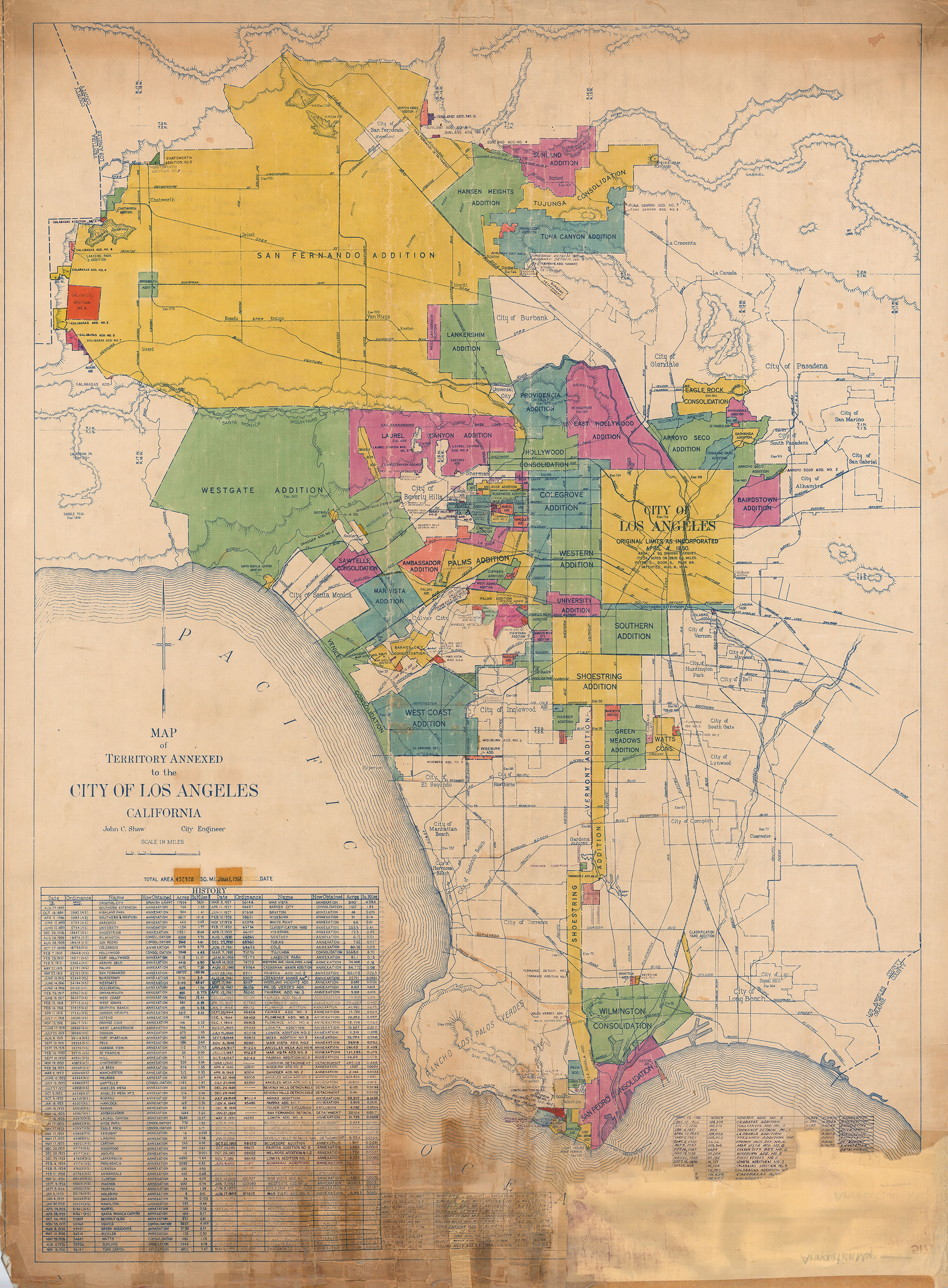 CityDig How Los Angeles Annexed The Port On A Shoestring Los - Los angeles map by city