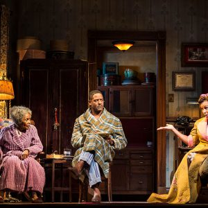 "Cicely Tyson, Blair Underwood, and Vanessa Williams in the critically acclaimed, Tony-nominated Broadway revival of ""The Trip to Bountiful"""