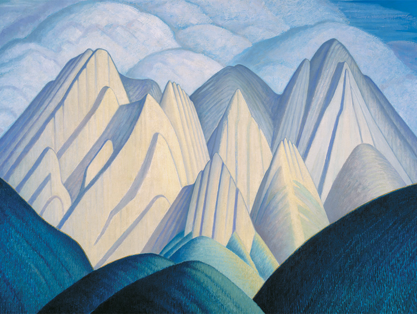 PEAKING OUT: Untitled (Mountains near Jasper), a Rockies landscape Harris painted in the 1930s