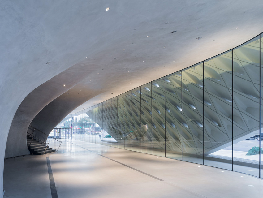 Diller envisioned the striking lobby of The Broad