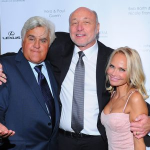 Jay Leno, Thomas D. Gordon, and Kristin Chenoweth