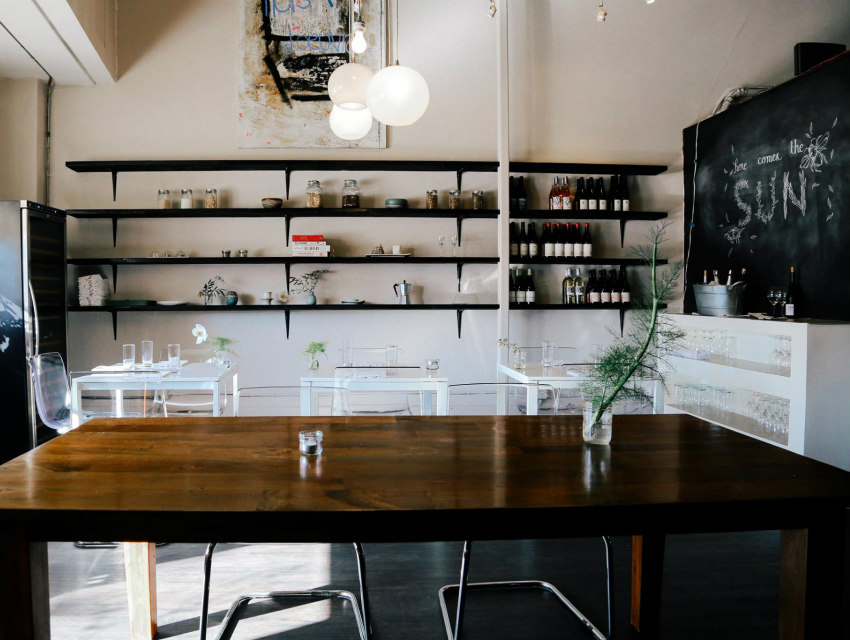 The restaurant's minimalist, if sparse, dining room