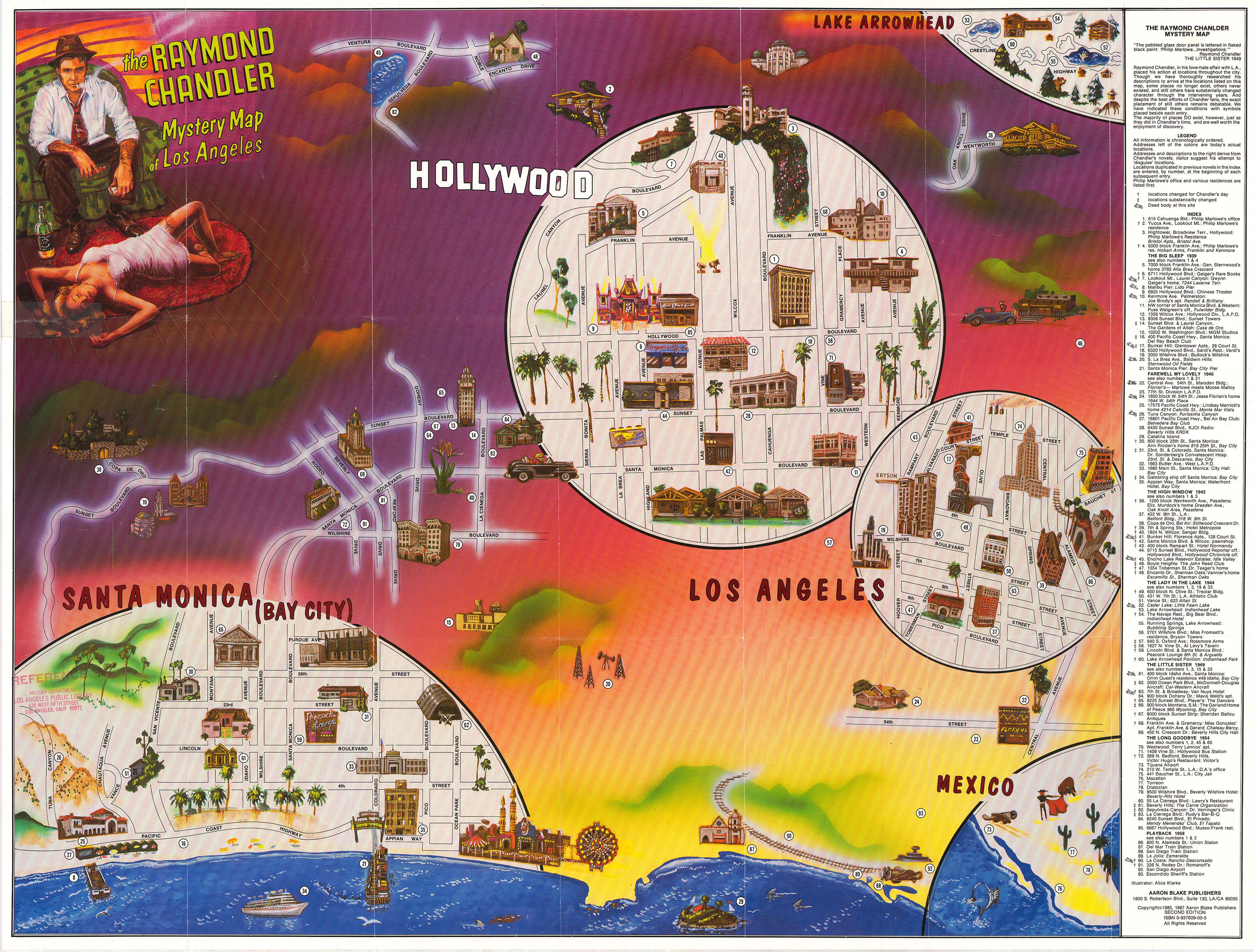 Find Your Way Around Raymond Chandlers Smoggy Sultry Los Angeles - Los angeles geography map